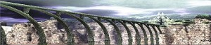 Puente hacia el templo en Shadow of the Colossus