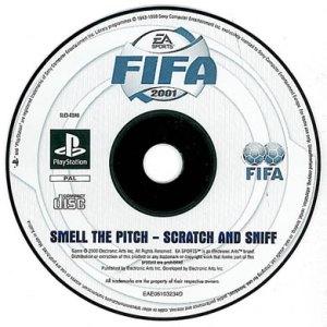 """Disco """"oloroso"""" de juego de FIFA 2001"""